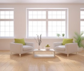Sofa and coffee on the dry branches Stock Photo