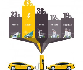 Solar power stations infographic vector 03