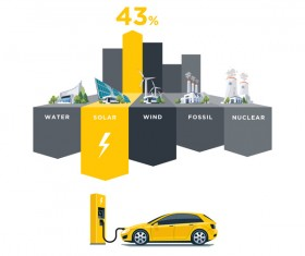 Solar power stations infographic vector 04