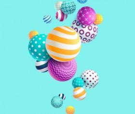 Sphere floral vector 3D background