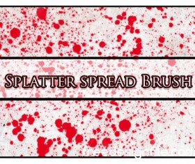 Splatter spread photoshop brushes