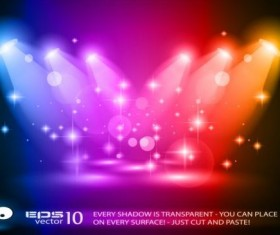 Spotlights and glowing colorful vector 01