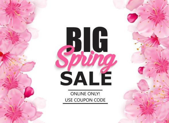 Spring big sale vector background 08