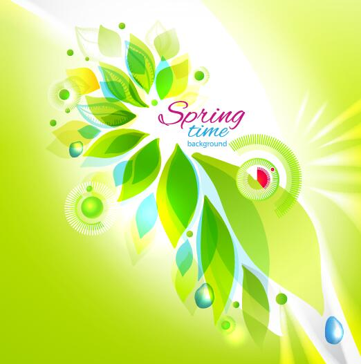 Spring time background abstract vector