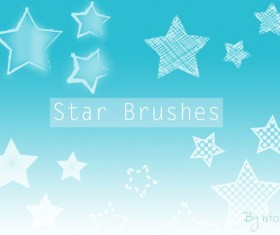 Star cartoon photoshop brushes set