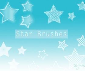 Star cartoon photoshop brushes set