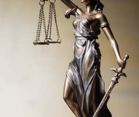 Statue of the goddess of justice Stock Photo 06