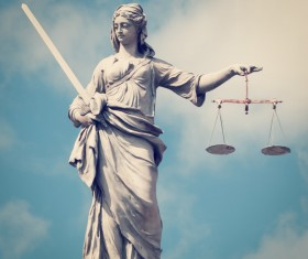 Statue of the goddess of justice Stock Photo 08