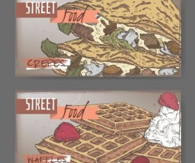 Street food hand drawn vector 04