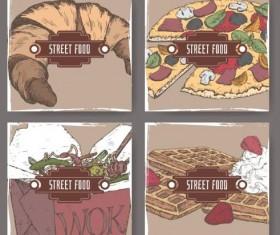 Street food hand drawn vector 06