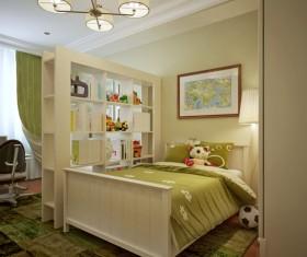Study bedroom interior layout Stock Photo