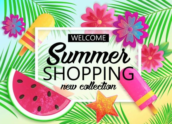 Summer big sale vector background 01