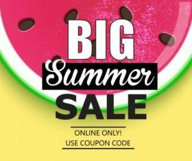 Summer big sale vector background 02