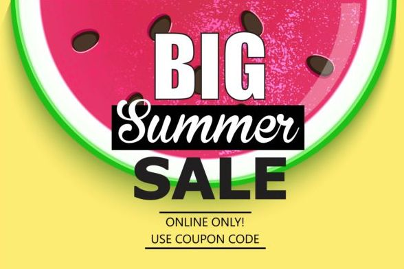 Summer big sale vector background 02
