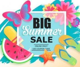 Summer big sale vector background 03