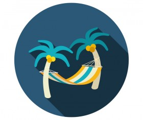 Summer holiday vector icon