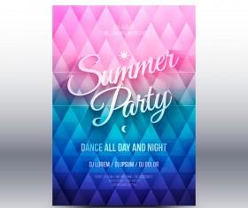 Summer party flyer template vector 01