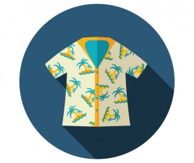 Summer t-shirt round icon