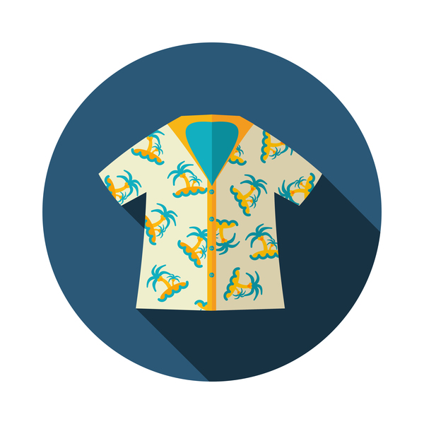 Summer t shirt round icon