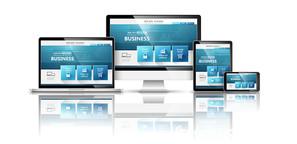 Tablet display with web design vector material 08