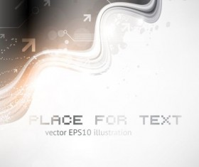 Tech wavy abstract illustration vector design 01