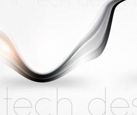 Tech wavy abstract illustration vector design 04