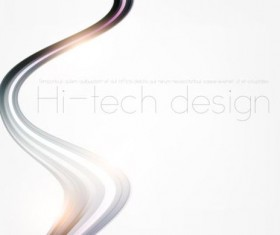 Tech wavy abstract illustration vector design 07