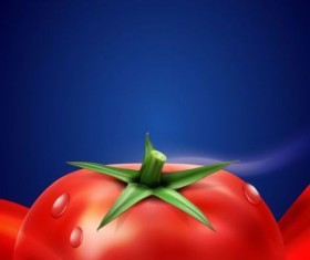Tomato drink background vector material 02