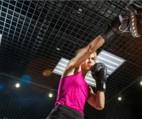 Training female boxer Stock Photo