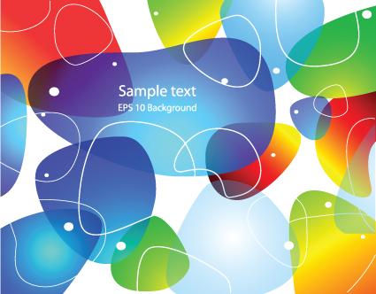 Transparent colored bubbles background vector 02