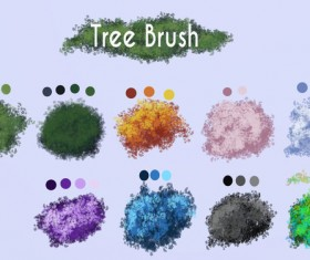 Tree photoshop brushes set