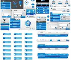 User interface statistics blue vector