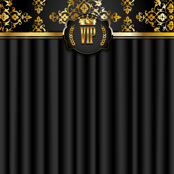 VIP background luxury design vectors 19