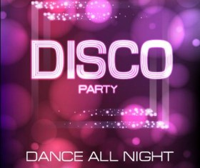 Vector night club disco party poster template 11