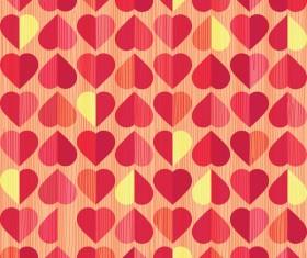 Vector valentine heart pattern material 01