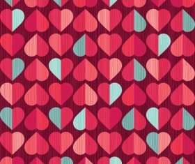 Vector valentine heart pattern material 02