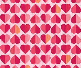 Vector valentine heart pattern material 03
