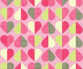 Vector valentine heart pattern material 04