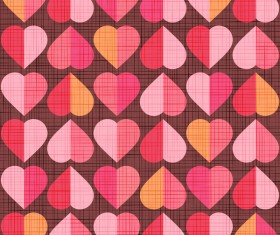 Vector valentine heart pattern material 05