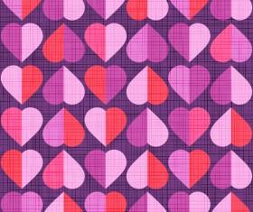 Vector valentine heart pattern material 06