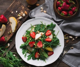 Vegetables and fruits salad Stock Photo