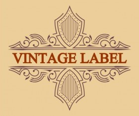 Vintage antique decorative labels vector 01