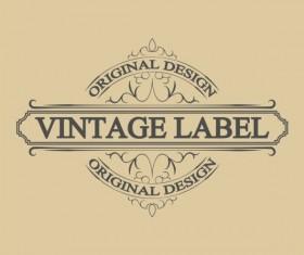 Vintage antique decorative labels vector 02