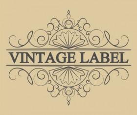 Vintage antique decorative labels vector 03