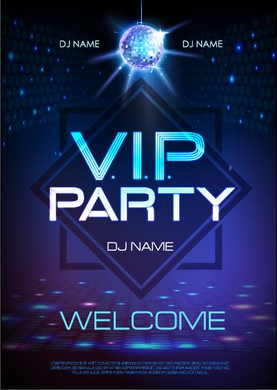 Vip party poster template 01