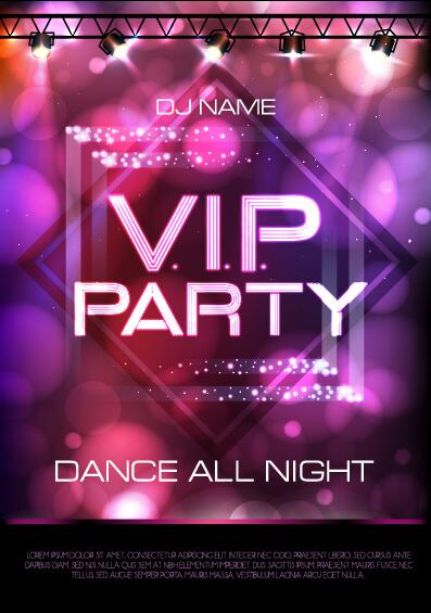 Vip party poster template 02