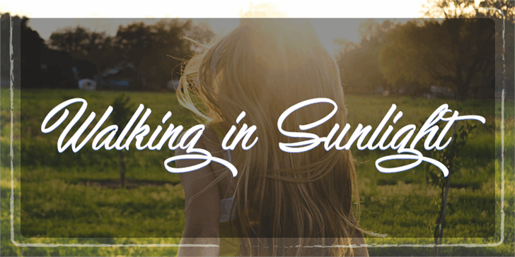 Walking in Sunlight font