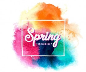 Watercolor with spring background vector