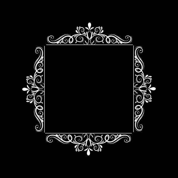 White baroque decor frame retro vector 10