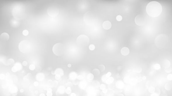 White bokeh effect background vector